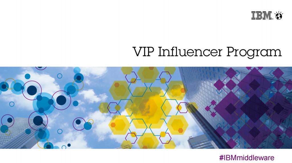 IBM VIP Influencer